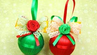getlinkyoutube.com-НОВОГОДНИЕ ШАРИКИ своими руками! / DIY Christmas balls / ✿ NataliDoma