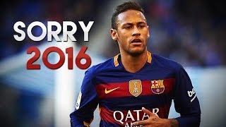 getlinkyoutube.com-Neymar Jr  ● Sorry  ● Skills & Goals 2016 HD