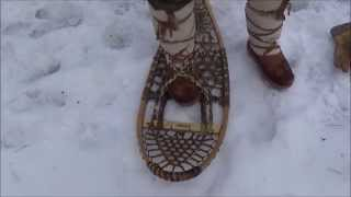 getlinkyoutube.com-Bushcraft - Traditional Snowshoe Bindings Materials and A Simple Method