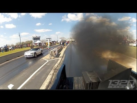 TX2K13 - 1100hp Truck smokes Supercharged Viper