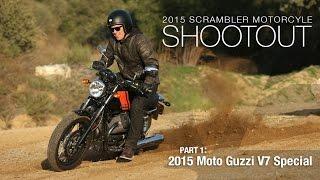 2015 Moto Guzzi V7 Special - Scrambler Shootout Part 1 - MotoUSA