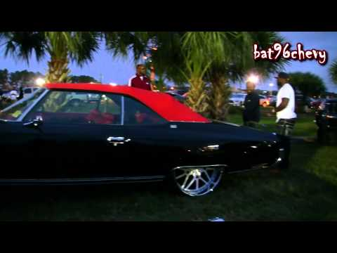 Black & Red Chevy Caprice Convertible Donk on 26