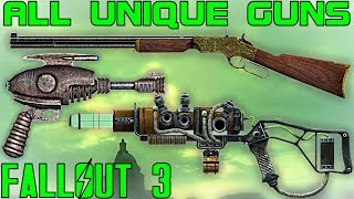 getlinkyoutube.com-Fallout 3: All Unique Guns / Firearms Guide (Vanilla)