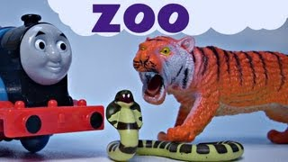 getlinkyoutube.com-Sodor Thomas The Train Zoo Musical Sing Along Kids Toy Train Set Thomas & friends