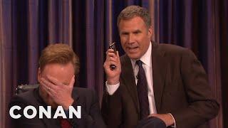 Will Ferrell And His Razor Come To Shave Conan's Beard  - CONAN on TBS
