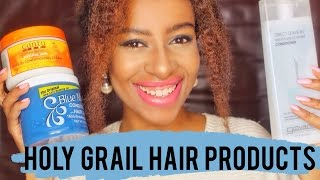 getlinkyoutube.com-My Holy Grail of NATURAL HAIR PRODUCTS || 4b 4c natural hair