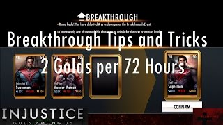 getlinkyoutube.com-Injustice Gods Among Us iOS - Breakthrough Tips and Tricks 2 Golds per 72 Hours