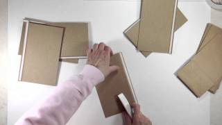 getlinkyoutube.com-Vertical Paper Bag Mini Album Series Part 1a - Building Pages
