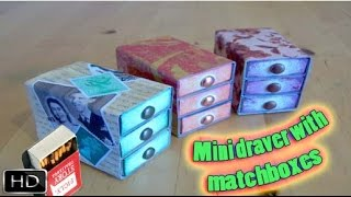 getlinkyoutube.com-How to make : Mini Drawers with Matchbox