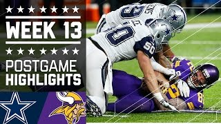 getlinkyoutube.com-Cowboys vs. Vikings (Week 13) | Game Highlights | NFL