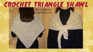 getlinkyoutube.com-How to Crochet a Triangle Shawl (Heklani trouglasti šal)
