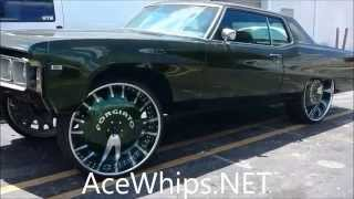 "getlinkyoutube.com-AceWhips.NET- 1968 Buick 225 Squattin on 30"" Forgiatos by WTW Customs"