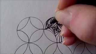 getlinkyoutube.com-How to draw tanglepattern Paradox in circles