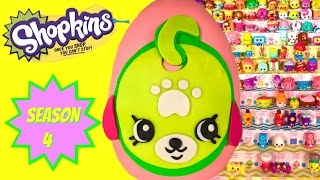 getlinkyoutube.com-SHOPKINS SEASON 4 Play Doh Surprise Egg Petkin Waggy Tag - Limited Edition Hunt