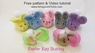 getlinkyoutube.com-Crochet Along Easter Egg Bunny