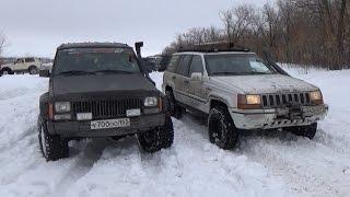 В битве Чероки и Гранд Чероки побеждает старенькая Нива!!! (Jeep Grand Cherokee)