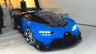Bugatti Vision GT - real car start up, revving, moving
