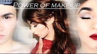 THE POWER OF MAKEUP | FULL BODY BOY TO GIRL TRANSFORMATION | CLASSIC RED LIPS | ADRIAN HILLS