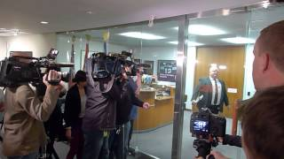 Toronto's Mayor Rob Ford leaving his office