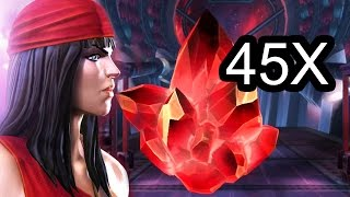 Marvel: Contest of Champions - 45x ELEKTRA Crystals Opening!