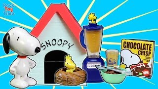 getlinkyoutube.com-Snoopy's Dog House Re-ment Charlie Brown's School Days, Cake Shop Toy Collection