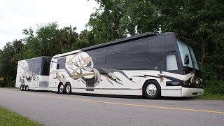 getlinkyoutube.com-Millennium Luxury Coaches- 2005 Featherlite H3-45, S2 Stock #0569