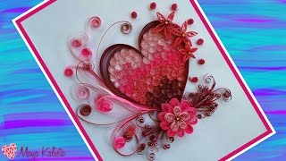 getlinkyoutube.com-How to make DIY  Paper Quilling DESIGNS - Art / Heart designs / Ideas Tutorial !