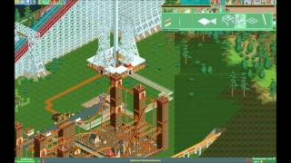 getlinkyoutube.com-RCT2 Time Lapse Part 4: Carbon Heights - Timber Woods Monorail station