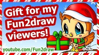 getlinkyoutube.com-Christmas Gift for My Fun2draw Viewers! + How to Draw a Christmas Card Picture
