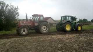 getlinkyoutube.com-Fiatagri 180-90 vs John Deere 6920s
