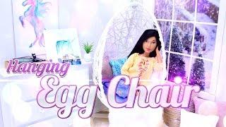 getlinkyoutube.com-DIY -  How to Make: Hanging Egg Chair - Dollhouse Decor - Doll Crafts - 4K