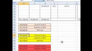 getlinkyoutube.com-Como fazer Planilha de Caixa no Excel para controle de contas.