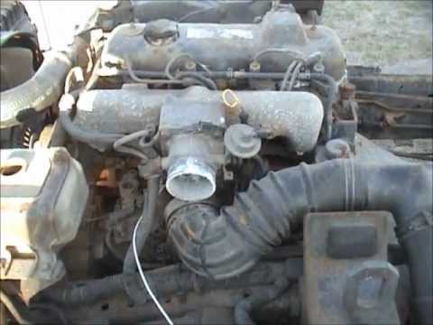 Ford Trader Diesel Engine, Runs in rolling chassis