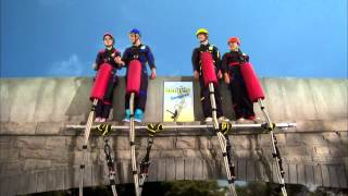 "getlinkyoutube.com-Austin & Ally - ""Magazines & Made-Up Stuff"" Bungee Jump Clip"