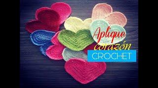 getlinkyoutube.com-Aplique a crochet: corazón a crochet  (diestro)