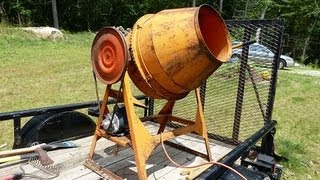 getlinkyoutube.com-Montgomery Ward GIL-26471A Cement Mixer Motor Replacement