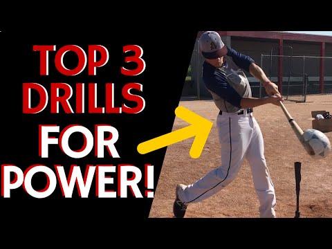 Top 3 Drills for Power! - Baseball Hitting Drills