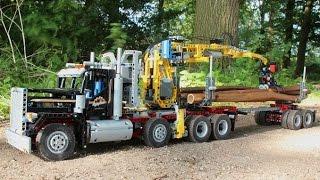 getlinkyoutube.com-LEGO TEchnic Self Loading Logging truck