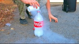 flushyoutube.com-Don't Put Liquid Nitrogen into Plastic Bottle