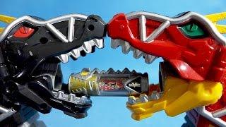 getlinkyoutube.com-Power Rangers Dino Charge Kyoryuger Super Sentai sound Dinosaurs 파워레인저 다이노포스 블랙 티라노킹 다크버전 슈퍼 다이노셀