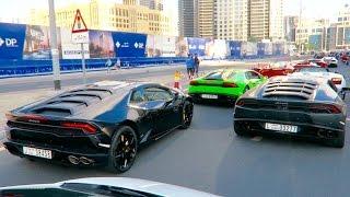 getlinkyoutube.com-Crazy Lamborghini EVENT in Dubai INSANE REVVING !!