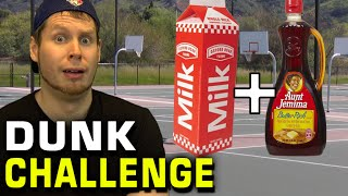 getlinkyoutube.com-SLAM DUNK CHALLENGE with MILK & SYRUP!