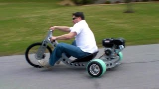 getlinkyoutube.com-Drift Trike Industrial Custom Motorized Drift Trike