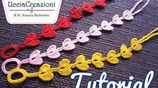 getlinkyoutube.com-Tutorial 7. * Bracciali Cuore * Simil - Cruciani . How to Heart Crochet Bracelets