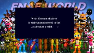 LAS IMAGENES QUE NADIE VIO!!?-FIVE NIGHTS AT FREDDYS WORLD!-SECRETOS Y TEORIAS!