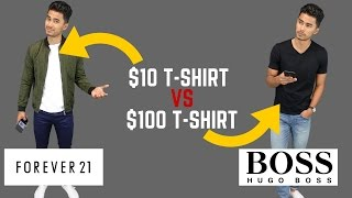 Cheap Clothing vs Expensive Clothing