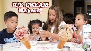 getlinkyoutube.com-The ICE CREAM MAKERS! How to use the Rival Electric Ice Cream Maker by EvanTubeHD