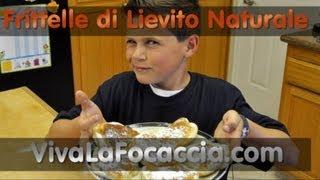 getlinkyoutube.com-Ricetta Frittelle di Lievito Naturale (Licoli, Pasta Madre)