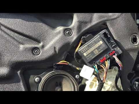 Снятие дверной обшивки Audi A6 4F