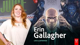 getlinkyoutube.com-Live Illustration with Erin Gallagher - AdobeLive